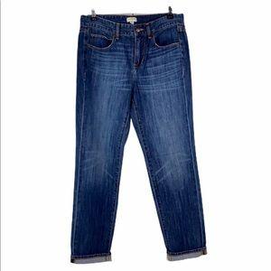 J. Crew Six Pocket Taper Crop Capri Jeans 26